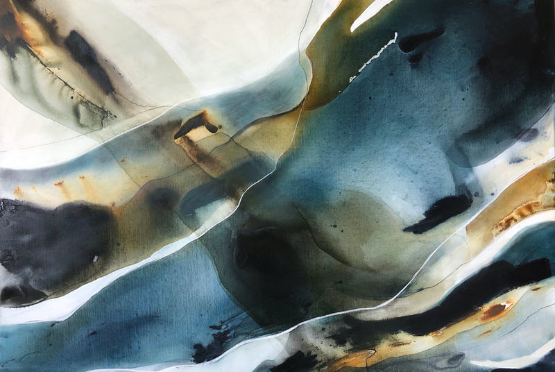 (CreativeWork) Mirage 2 by Dinah Wakefield. arcylic-painting. Shop online at Bluethumb.