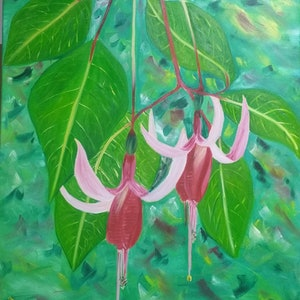 (CreativeWork) Ballerinas  by Sandra Messner. oil-painting. Shop online at Bluethumb.