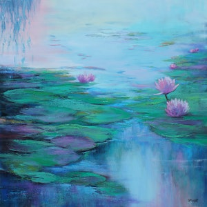 (CreativeWork) FLORAL REFLECTIONS by Sandra Michele Knight. oil-painting. Shop online at Bluethumb.