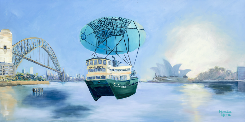 (CreativeWork) Sydney Harbour - Seaworthy  by Meredith Howse. oil-painting. Shop online at Bluethumb.