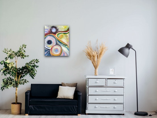 (CreativeWork) Day dreaming by Tania Weekes. Oil Paint. Shop online at Bluethumb.
