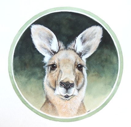 (CreativeWork) The Gentle Grey by Trish Hart. Watercolour Paint. Shop online at Bluethumb.