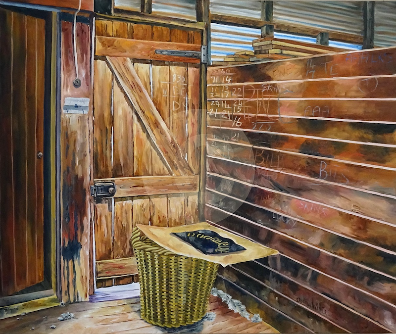 (CreativeWork) Behind the Door by Delma White. Oil Paint. Shop online at Bluethumb.