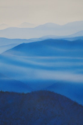 (CreativeWork) Kosciuszko National Park  by Todd Simpson. Acrylic Paint. Shop online at Bluethumb.