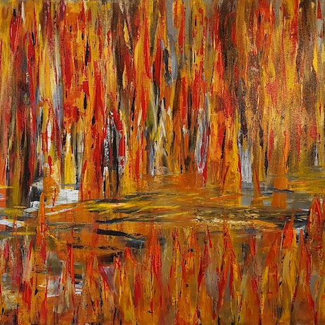(CreativeWork) WETLANDS  by Debra Murphy. Acrylic Paint. Shop online at Bluethumb.