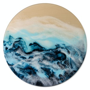 "(CreativeWork) ""Blue Accolade""  by Belinda Doyle. resin. Shop online at Bluethumb."