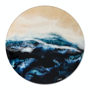 "(CreativeWork) ""Deep Water"" by Belinda Doyle. resin. Shop online at Bluethumb."