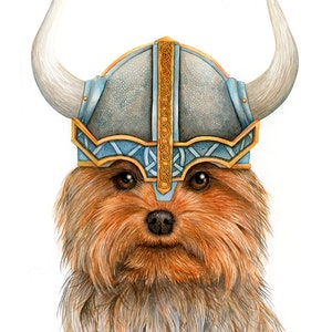 "(CreativeWork) ""Stoic"", Viking Dog Series, 2019 by Katherine Appleby. #<Filter:0x000055c8777547a8>. Shop online at Bluethumb."