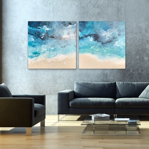 (CreativeWork) Back Beach by Michelle Chalmers. arcylic-painting. Shop online at Bluethumb.