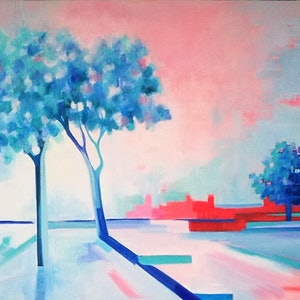 (CreativeWork) Blue Dayz by Cindy (Lucinda) Glyde. oil-painting. Shop online at Bluethumb.