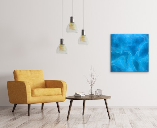 (CreativeWork) Blue Dream 3 by Kitty Berton. Acrylic Paint. Shop online at Bluethumb.