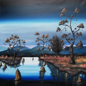 (CreativeWork) whole day dream  by rafat yacoub. oil-painting. Shop online at Bluethumb.