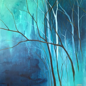 (CreativeWork) Into the Calm by Colleen Palmer. arcylic-painting. Shop online at Bluethumb.