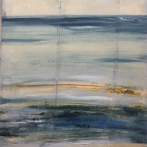 (CreativeWork) Tides Out  by Julie Dynan. arcylic-painting. Shop online at Bluethumb.
