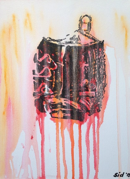 (CreativeWork) Coke Crush' by Sidney Sprague. arcylic-painting. Shop online at Bluethumb.