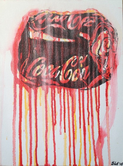 (CreativeWork) Coca-Cola dreams' by Sidney Sprague. arcylic-painting. Shop online at Bluethumb.