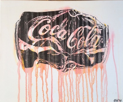 (CreativeWork) Coke Dreams' by Sidney Sprague. arcylic-painting. Shop online at Bluethumb.