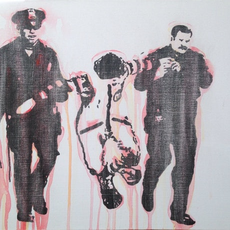 (CreativeWork) Busted' by Sidney Sprague. Acrylic Paint. Shop online at Bluethumb.