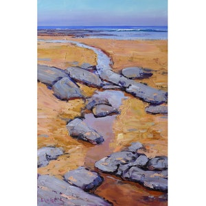 (CreativeWork) rocky inlet , central coast nsw by Graham Gercken. Oil Paint. Shop online at Bluethumb.