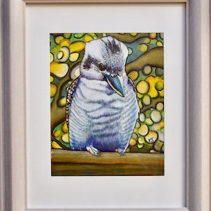 (CreativeWork) Kookaburra by Vikki Jackson. mixed-media. Shop online at Bluethumb.