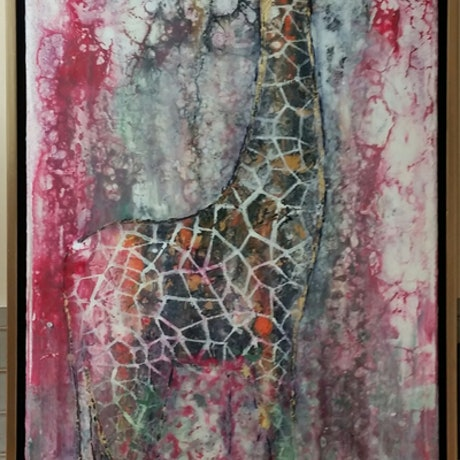 (CreativeWork) giraffe camoflouge by peter smart. Mixed Media. Shop online at Bluethumb.