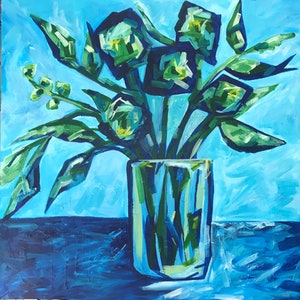 (CreativeWork) There's always the blues by Maggie Deall. arcylic-painting. Shop online at Bluethumb.