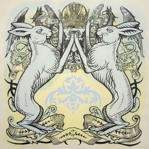 (CreativeWork) Heraldic Hares - Framed by Donald Paull. Drawings. Shop online at Bluethumb.