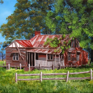(CreativeWork) Abandoned old farmhouse Limited edition giclee print Ed. 1 of 100 by Debra Dickson. print. Shop online at Bluethumb.