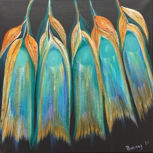 (CreativeWork) LEAVES AND FEATHERS by Joseph Williams. acrylic-painting. Shop online at Bluethumb.