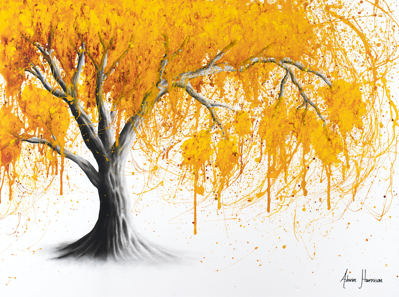 (CreativeWork) Rusty Desert Tree by Ashvin Harrison. acrylic-painting. Shop online at Bluethumb.