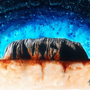 (CreativeWork) Ancient Ochre by Ashvin Harrison. Acrylic Paint. Shop online at Bluethumb.