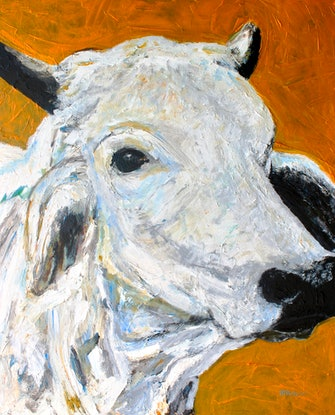 (CreativeWork) The Brahman by Ryan Taylor Kilbourn. Acrylic Paint. Shop online at Bluethumb.