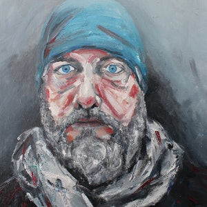 (CreativeWork) Dare To Look Within by Ryan Kilbourn. arcylic-painting. Shop online at Bluethumb.