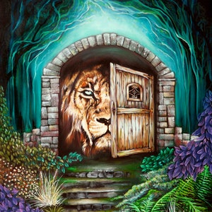 (CreativeWork) Lions Gate by Rachel South. oil-painting. Shop online at Bluethumb.