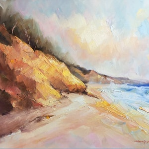 (CreativeWork) Colors of Rainbow beach # 6 by Liliana Gigovic. oil-painting. Shop online at Bluethumb.