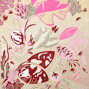 (CreativeWork) Flourish by Adelin Hill. arcylic-painting. Shop online at Bluethumb.