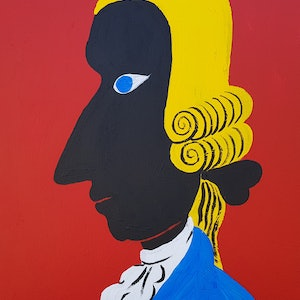 (CreativeWork) Mozart by Yiwei Shi. acrylic-painting. Shop online at Bluethumb.