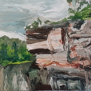 (CreativeWork) On the Kangaroo river  by Vanessa Whittington. oil-painting. Shop online at Bluethumb.
