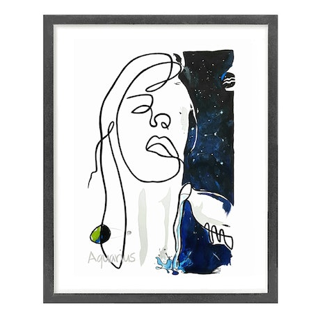 (CreativeWork) ' Aquarius '  Star Sign Series  ◻ 43 x 53 x 1.6 by Chris Cox. Acrylic Paint. Shop online at Bluethumb.