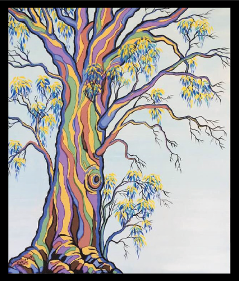 (CreativeWork) PORTRAIT OF A TREE 1 by Saadah Kent. arcylic-painting. Shop online at Bluethumb.