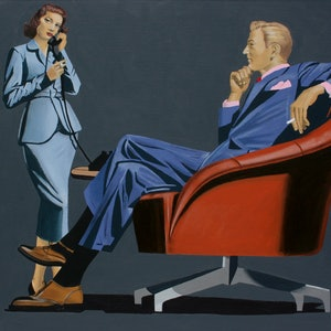 (CreativeWork) The appointment by Howard Moffatt. arcylic-painting. Shop online at Bluethumb.