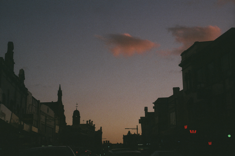 (CreativeWork) Analogue Architecture 05(Newtown Sunset)  by Rosemary Whatmuff. photograph. Shop online at Bluethumb.