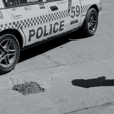 (CreativeWork) Analogue Photo Documentary Street 2 (Vintage Police Car) Ed. 1 of 1 by Rosemary Whatmuff. Photograph. Shop online at Bluethumb.