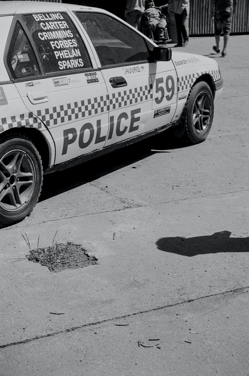 (CreativeWork) Analogue Photo Documentary Street 2 (Vintage Police Car) by Rosemary Whatmuff. photograph. Shop online at Bluethumb.
