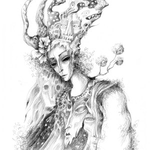 (CreativeWork) The Wraiths of Heat by Sona Babajanyan. drawing. Shop online at Bluethumb.