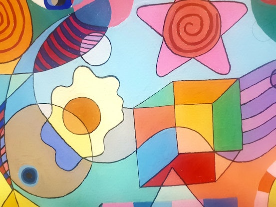 (CreativeWork) Fiesta by John Wade. Other Media. Shop online at Bluethumb.