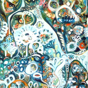 (CreativeWork) Wild II by Sarah Morrow. arcylic-painting. Shop online at Bluethumb.