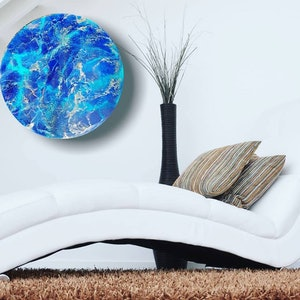 (CreativeWork) Above the Ocean by Simonne Moodie. resin. Shop online at Bluethumb.