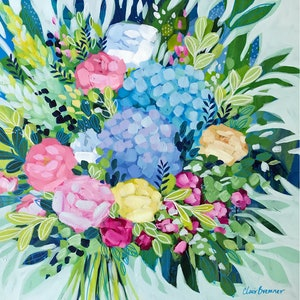 (CreativeWork) Cottage Garden  by Clair Bremner. arcylic-painting. Shop online at Bluethumb.