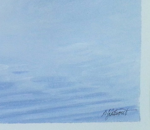 (CreativeWork) View from Beach House by Suzy Strout. Acrylic Paint. Shop online at Bluethumb.